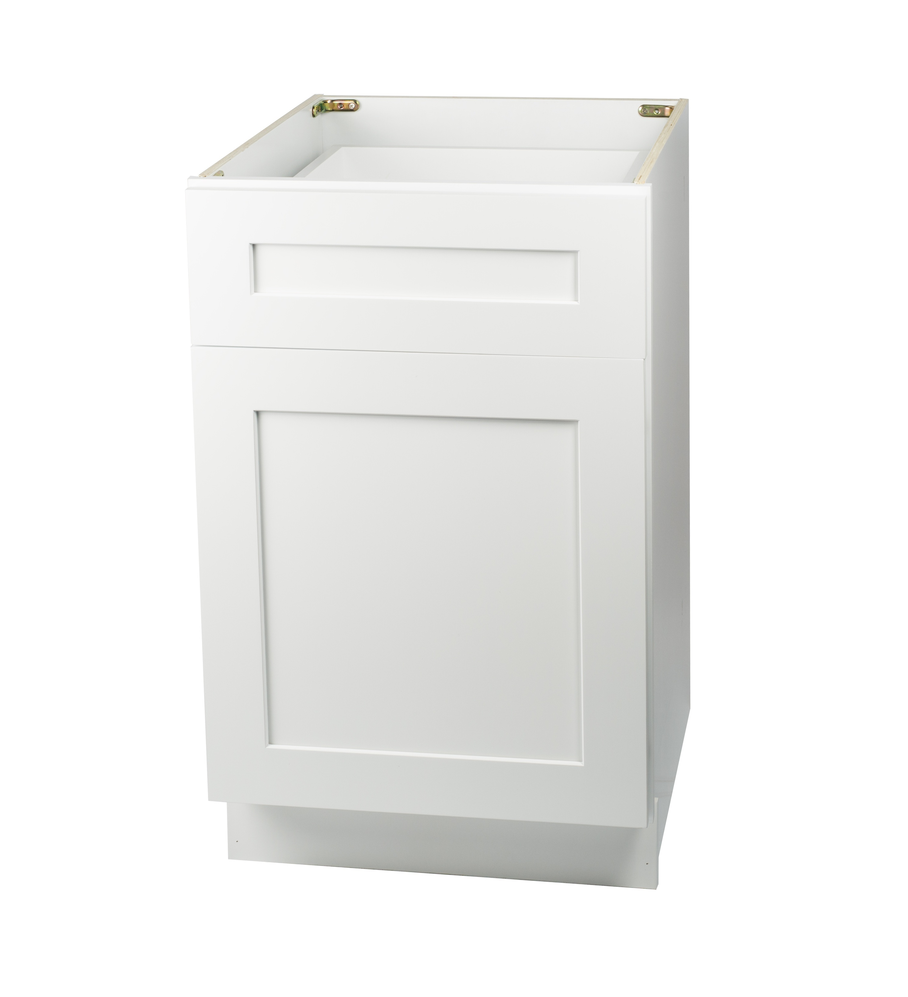 Ready to Assemble 24Wx34.5Hx24D in. Shaker Base Cabinet with 1 Door and 1 Drawer in White