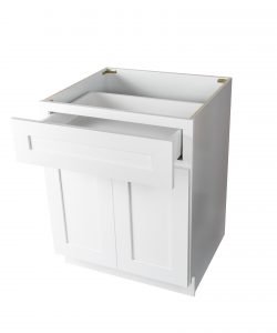 Ready to Assemble 27Wx34.5Hx24D in. Shaker Base Cabinet with 1 Door and 1 Drawer in White