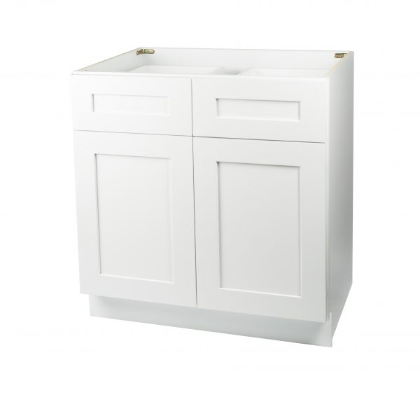 Ready to Assemble 33Wx34.5Hx24D in. Shaker Base Cabinet with 2 Door and 2 Drawer in White