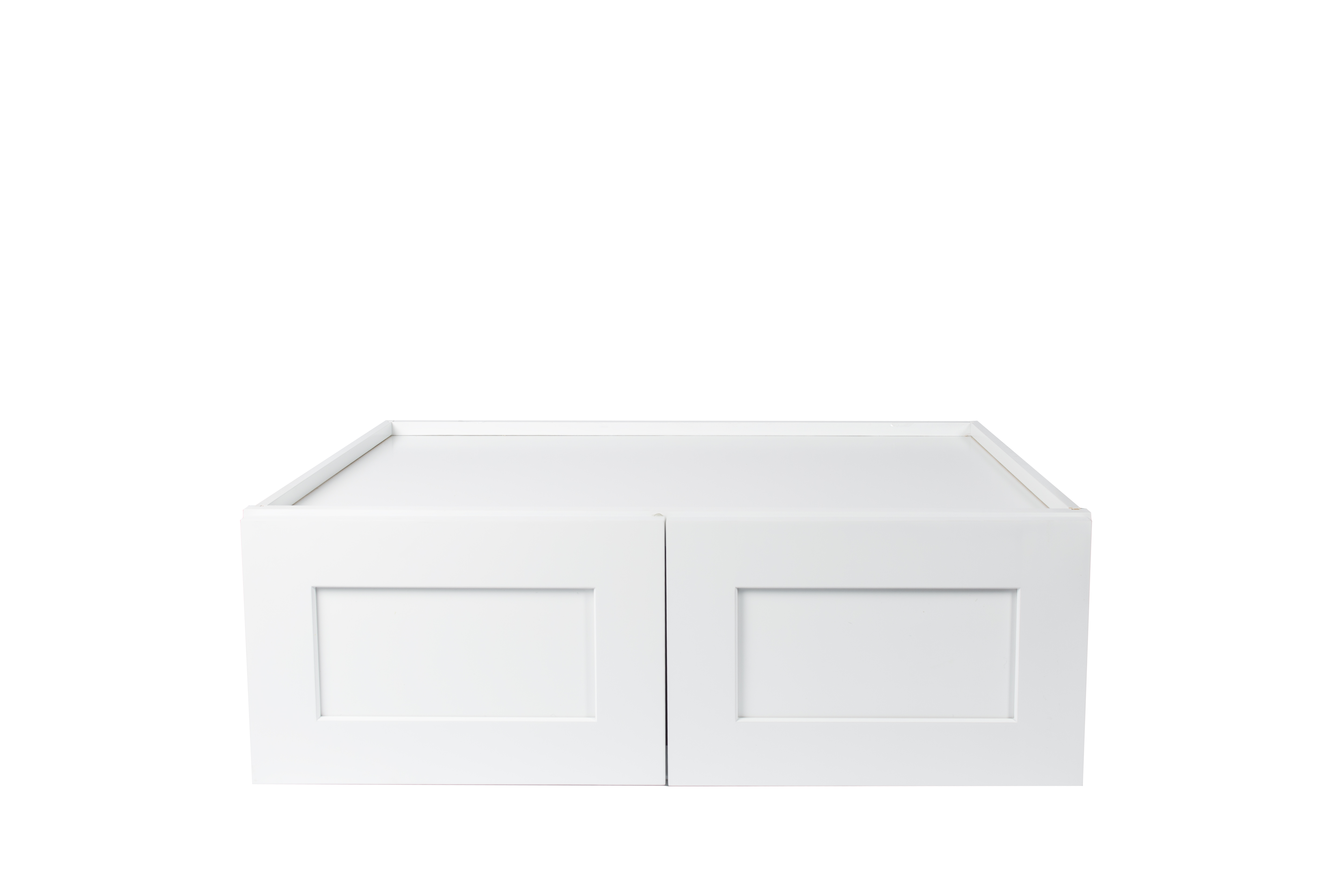 Ready to Assemble 30x18x12 in. Shaker High Double Door Wall Cabinet in White