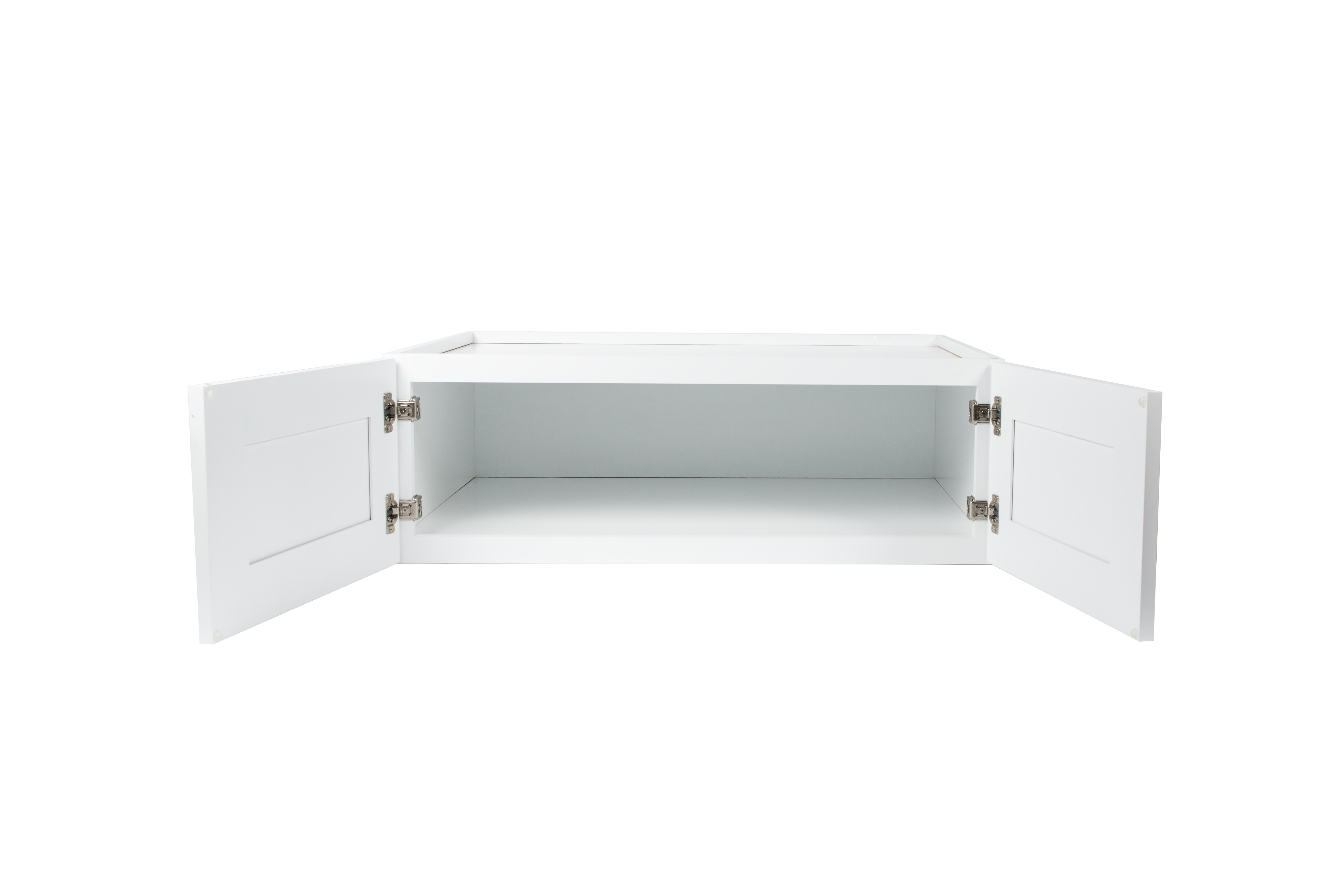 Ready to Assemble 30x15x24 in. Shaker High Double Door Wall Cabinet in White