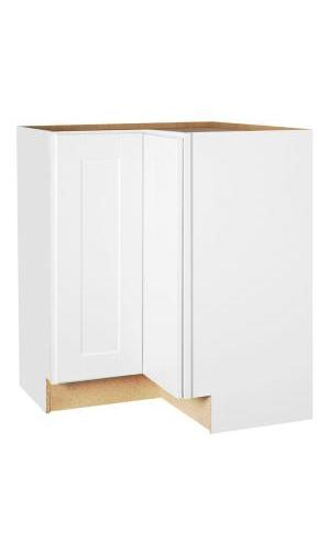 Ready to Assemble 33Wx34.5Hx33D in. Shaker BASE LAZY SUSAN-2 DOORS in White