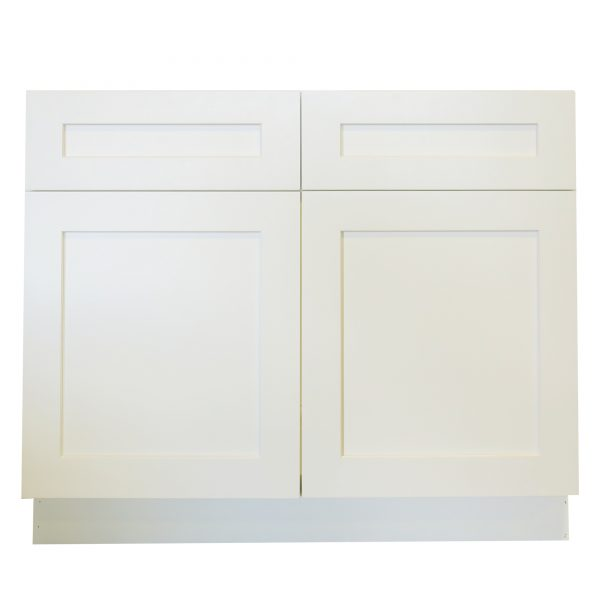 Ready to Assemble 36x34.5x24 in. Shaker Sink Base Cabinet with 2 Doors in White