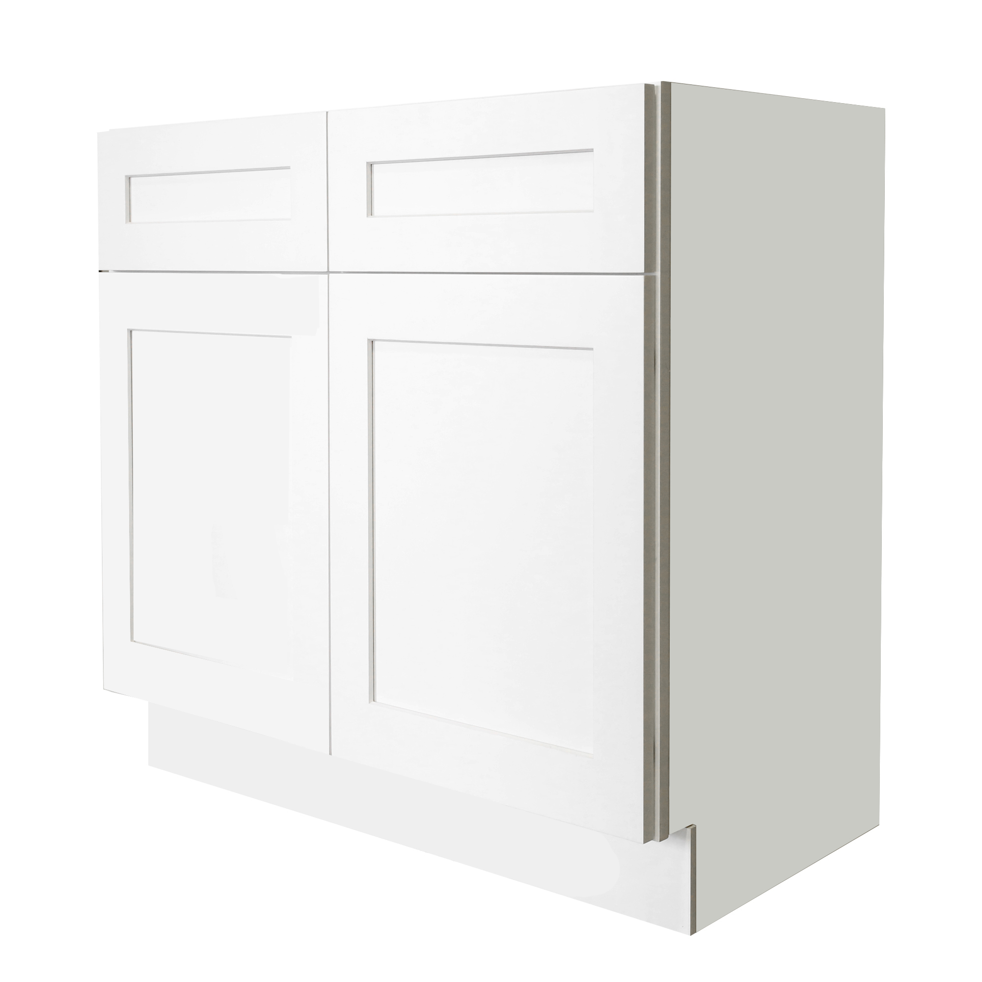 Ready to Assemble 39x34.5x24 in. Shaker Sink Base Cabinet with 2 Doors in White