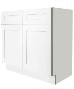 Ready to Assemble 33x34.5x24 in. Shaker Sink Base Cabinet with 2 Doors in White