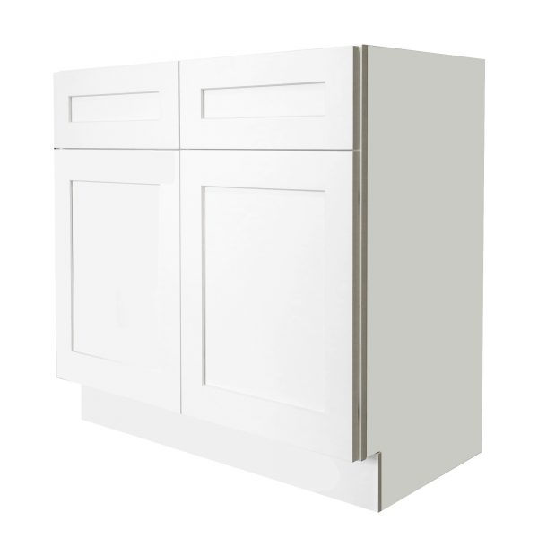 Ready to Assemble 42x34.5x24 in. Shaker Sink Base Cabinet with 2 Doors in White