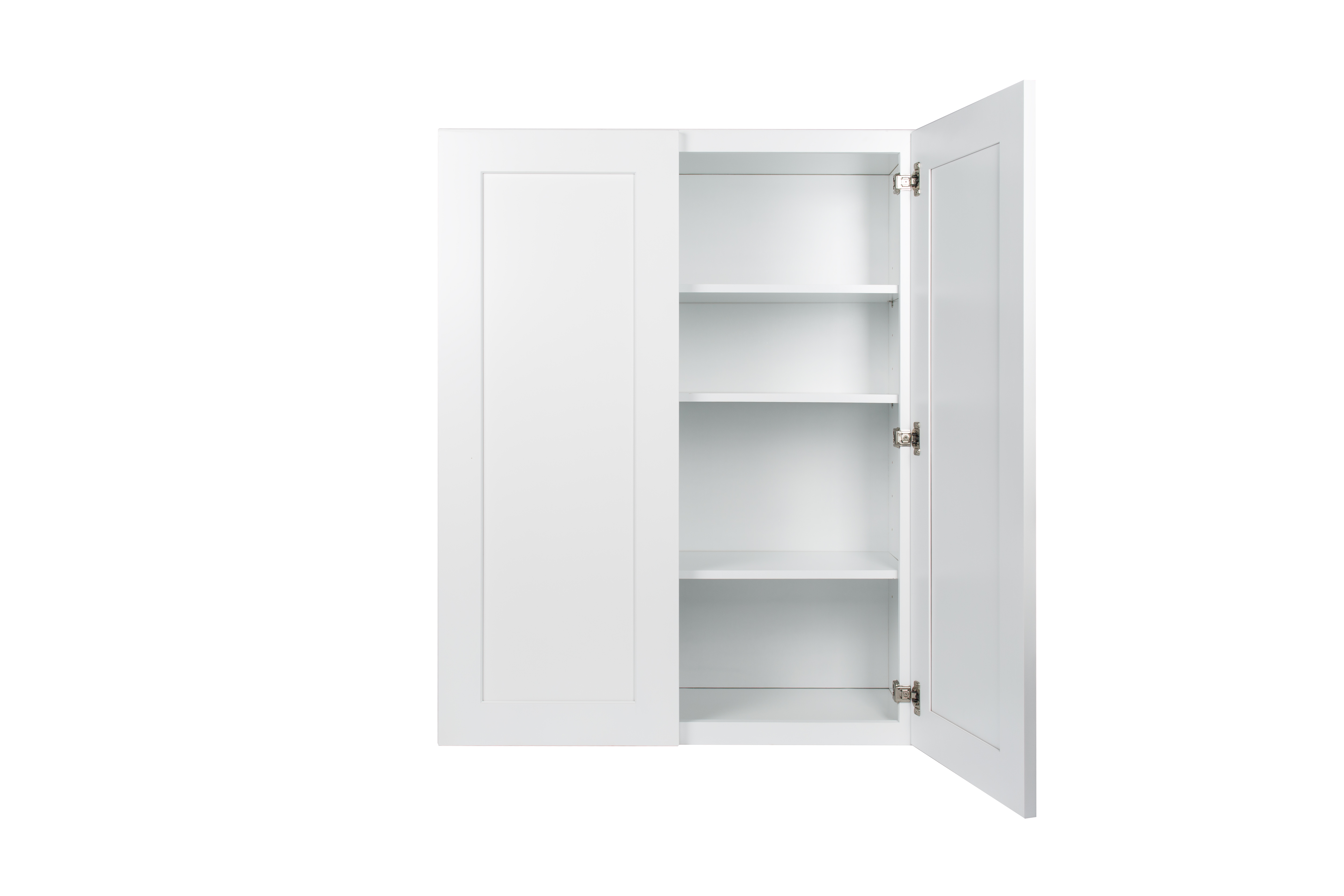 Ready to Assemble 30x36x12 in. Wall Cabinets with 2 Doors and Two Adjustable Shelves in Shaker White