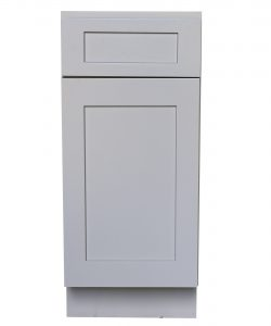 Ready to Assemble 9Wx34.5Hx24D in. Shaker Base Cabinet with 1 Door and 1 Drawer in Gray