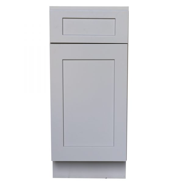 Ready to Assemble 12Wx34.5Hx24D in. Shaker Base Cabinet with 1 Door and 1 Drawer in Gray