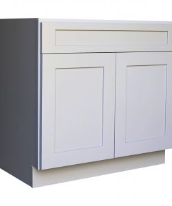 Ready to Assemble 24Wx34.5Hx24D in. Shaker Base Cabinet with 1 Door and 1 Drawer in Gray