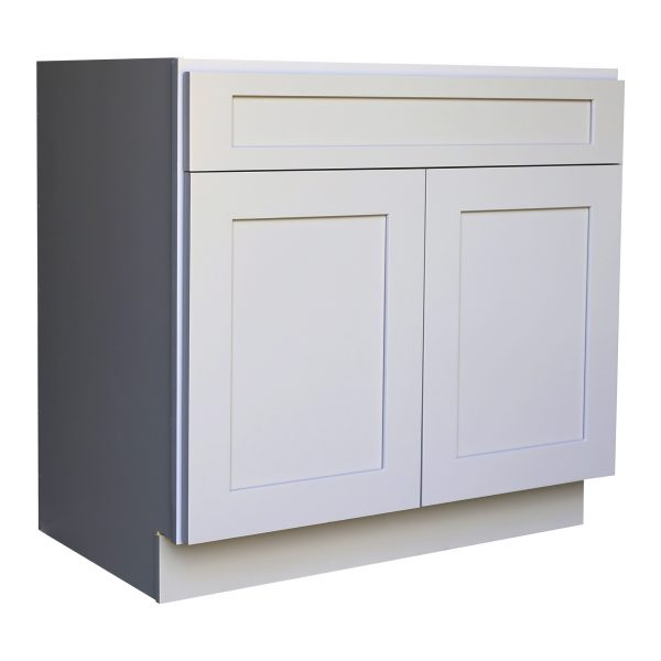 Ready to Assemble 27Wx34.5Hx24D in. Shaker Base Cabinet with 1 Door and 1 Drawer in Gray