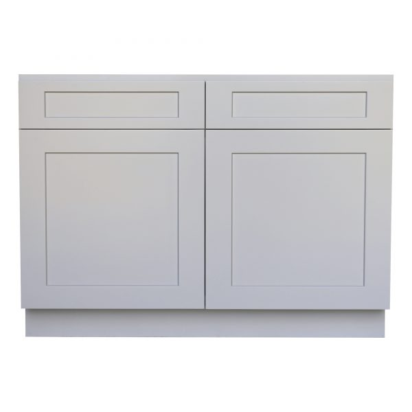 Ready to Assemble 33Wx34.5Hx24D in. Shaker Base Cabinet with 2 Door and 2 Drawer in Gray