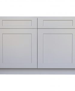 Ready to Assemble 39Wx34.5Hx24D in. Shaker Base Cabinet with 2 Door and 2 Drawer in Gray