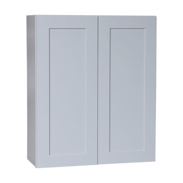 Ready to Assemble 27x42x12 in. Shaker Wall Cabinets with 2 Doors and 3 Adjustable Shelves in Gray