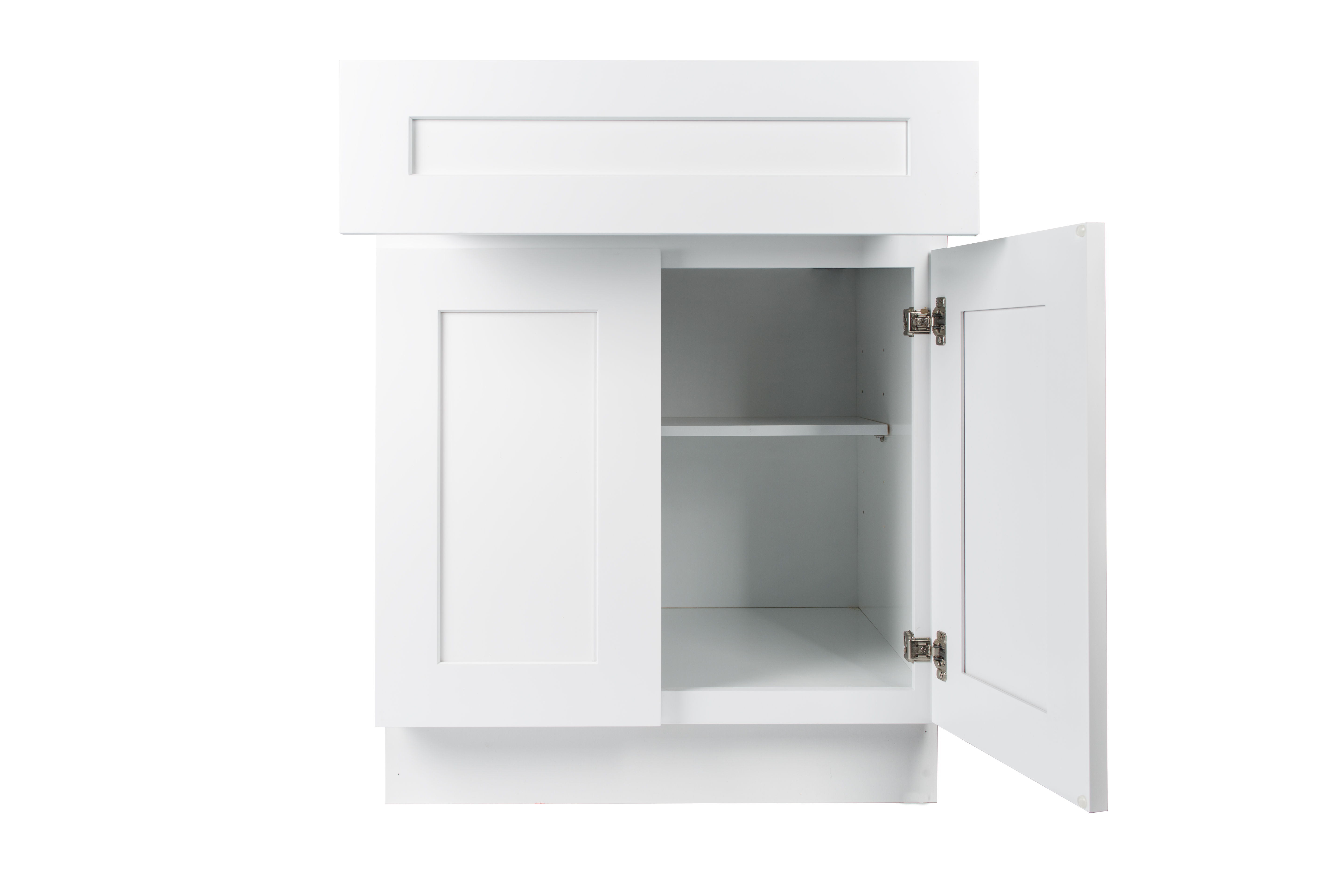 Ready to Assemble 30Wx34.5Hx24D in. Shaker Base Cabinet with 2 Door and 2 Drawer in White