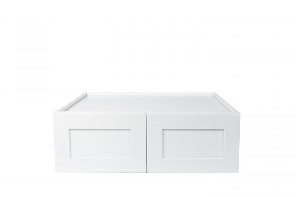 Ready to Assemble 36x12x24 in. Shaker High Double Door Wall Cabinet in White