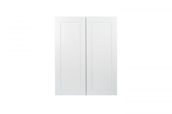 Ready to Assemble 24x36x12 in. Wall Cabinets with 2 Doors and 2 Adjustable Shelves in Shake White