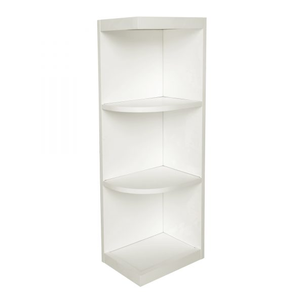 Ready to Assemble 9Wx36Hx12D in. Shaker Wall End Open Shelf in White