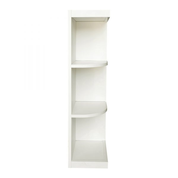 Ready to Assemble 12Wx36Hx12D in. Shaker Wall End Open Shelf in White