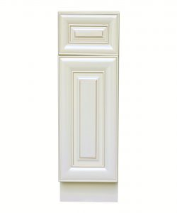 AWxB09   Ready to Assemble 9Wx34.5Hx24D in. Base Cabinet with 1 Door and 1 Drawer inAntique White
