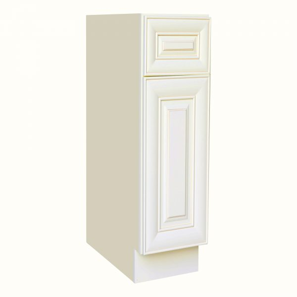 AWxB12   Ready to Assemble 12Wx34.5Hx24D in. Base Cabinet with 1 Door and 1 Drawer inAntique White
