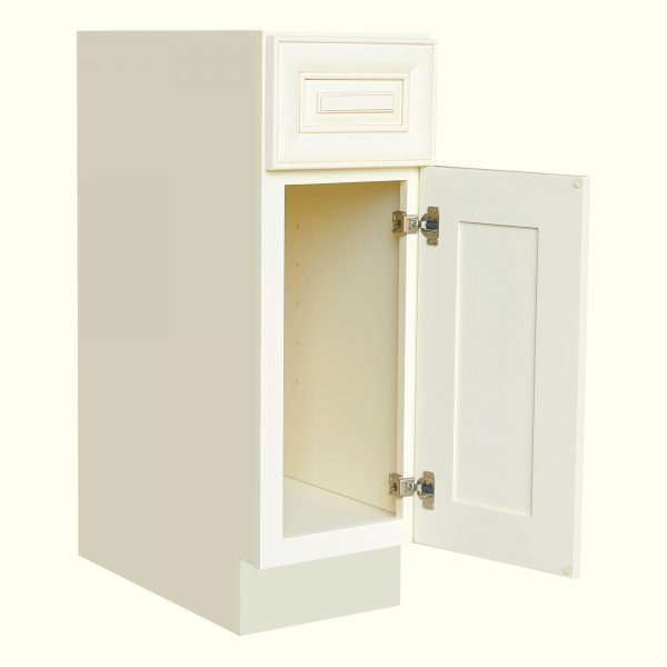 AWxB15   Ready to Assemble 15Wx34.5Hx24D in.Base Cabinet with 1 Door and 1 Drawer inAntique White