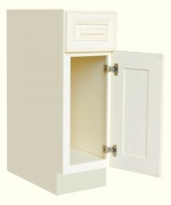 AWxB18   Ready to Assemble 18Wx34.5Hx24D in.  Base Cabinet with 1 Door and 1 Drawer inAntique White