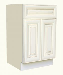 AWxB27   Ready to Assemble 27Wx34.5Hx24D in.  Base Cabinet with 2 Door and 1 Drawer inAntique White