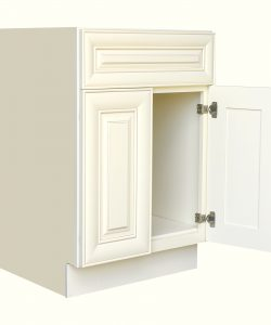 AWxB24   Ready to Assemble 24Wx34.5Hx24D in.  Base Cabinet with 2 Door and 1 Drawer inAntique White