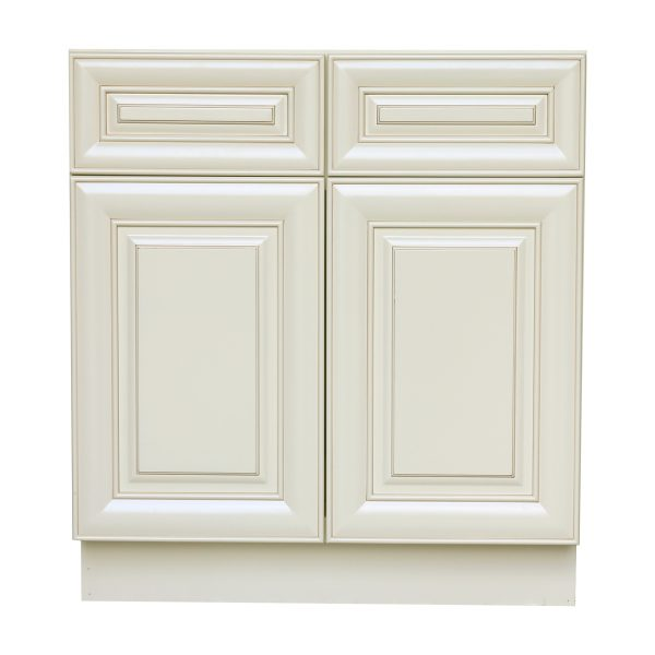 AWxSB39-CY   Ready to Assemble 39x34.5x24 in.  Sink Base Cabinet with 2 Doors inAntique White