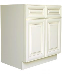 AWxB36   Ready to Assemble 36Wx34.5Hx24D in.  Base Cabinet with 2 Door and 2 Drawer inAntique White
