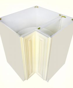 AWxLS3312   Ready to Assemble 33Wx34.5Hx33D in.  BASE LAZY SUSAN-2 DOORS inAntique White