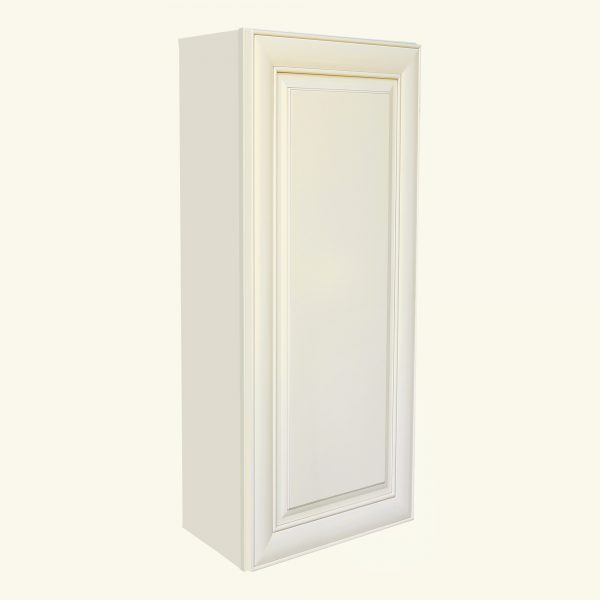 AWxW1542   Ready to Assemble 15x42x12 in.  Wall Cabinet with 1-Door and Adjustable Shelves inAntique White