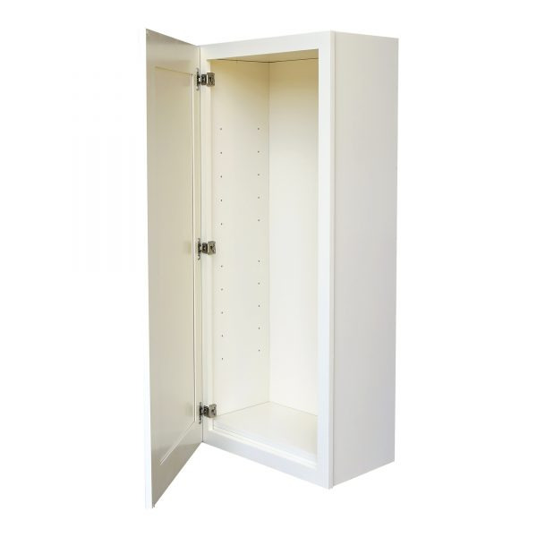 AWxW0930   Ready to Assemble 9Wx30Hx12D in.  Wall Cabinet with 1-Door and Adjustable Shelves inAntique White