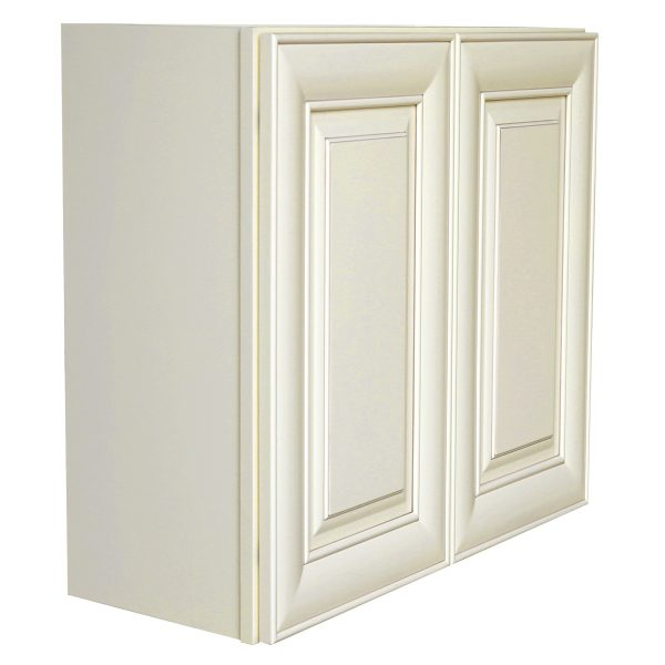 AWxW3636   Ready to Assemble 36x36x12 in. Wall Cabinets with 2 Doors and Two Adjustable Shelves in Antique White