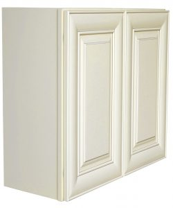 AWxW2742   Ready to Assemble 27x42x12 in.  Wall Cabinets with 2 Doors and 3 Adjustable Shelves inAntique White