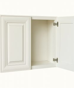 AWxW2730   Ready to Assemble 27x30x12 in.  Wall Cabinets with 2 Doors and 2 Adjustable Shelves inAntique White