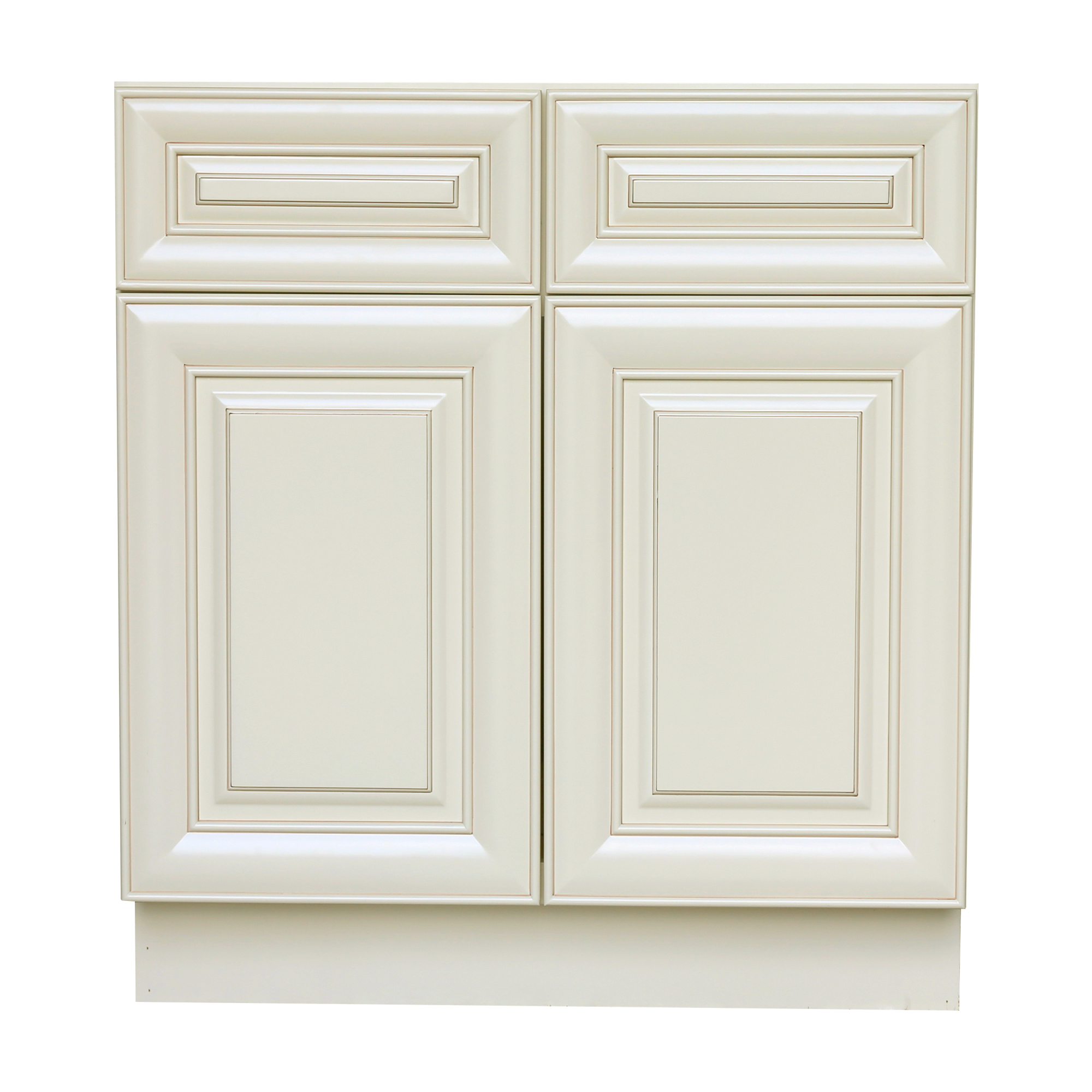 White Kitchen Cabinet Doors Only: Antique White Base Cabinet With 2 Door And 2 Drawer