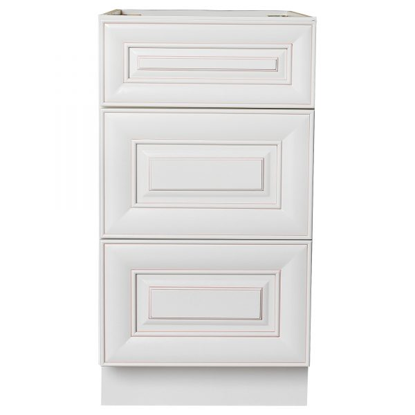 base drawer with 1 standard drawer with 2 deep drawers