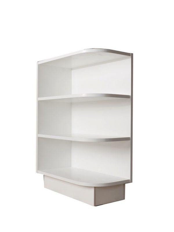 base end open shelf 1 shelf