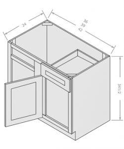 base blind corner cabinet 1 drawer 1 door 1 shelf