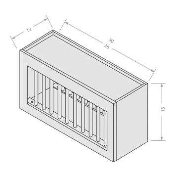Shaker Gray wall plate rack
