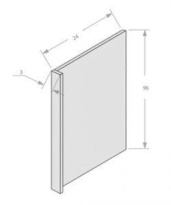 Antique White refrigerator end panel 3 return panel