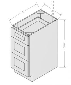 Chocolate vanity drawer base 3 drawers