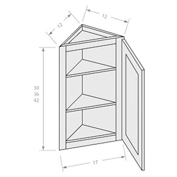 Chocolate wall end angle cabinet 1 door