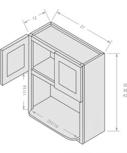 Shaker White wall microwave cabinet